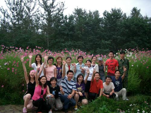 秦皇岛野生动物园百花园留下我们永恒的全家福